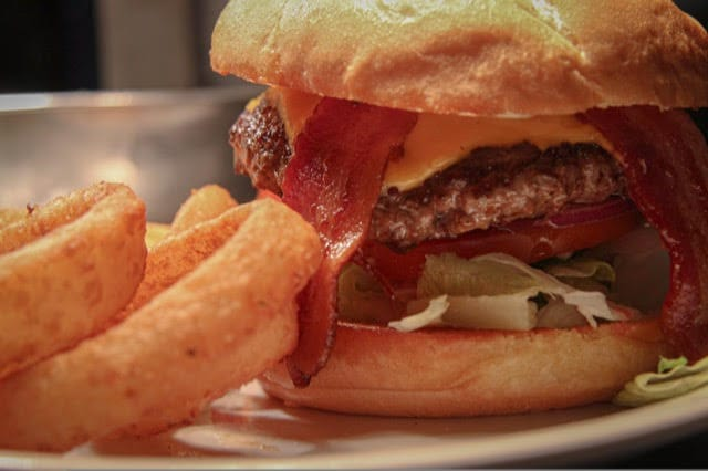 Pour Sports offers bacon burgers