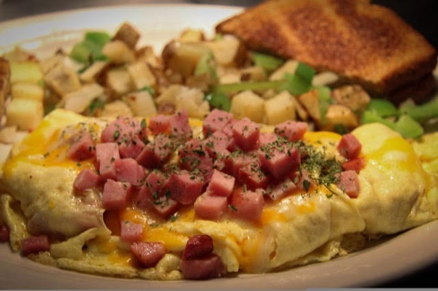 Pour Sports offers denver omelet in east county