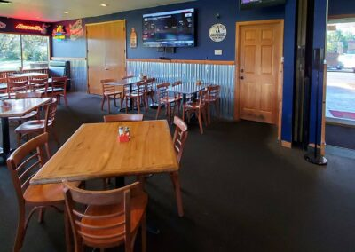 Pour Sports has a family friendly dining area in east county