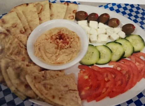 Pour Sports offers hummus platters
