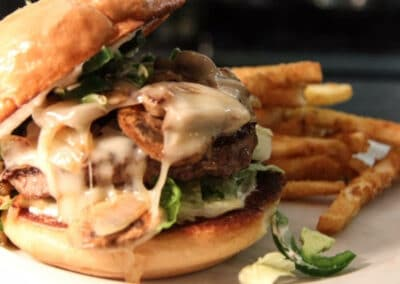 Pour Sports offers jalapeno burger